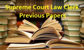 Supreme Court Law Clerk Previous Papers