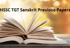 HSSC TGT Sanskrit Previous Papers