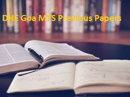 DHE Goa MTS Previous Papers