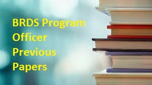 BRDS Program Officer Previous Papers