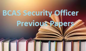 BCAS Security Officer Previous Papers