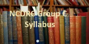 NCDRC Group C Syllabus