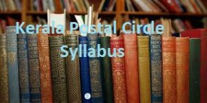 Kerala Postal Circle Syllabus