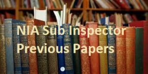 NIA Sub Inspector Previous Papers