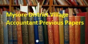 Mysore District Village Accountant Previous Papers