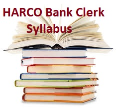 HARCO Bank Clerk Syllabus