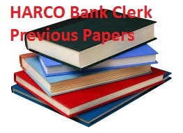 HARCO Bank Clerk Previous Papers