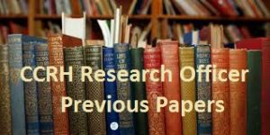 CCRH Research Officer Previous Papers